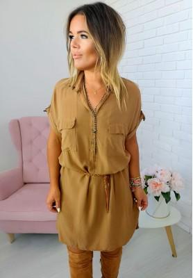 Sukienka Marisol Camel