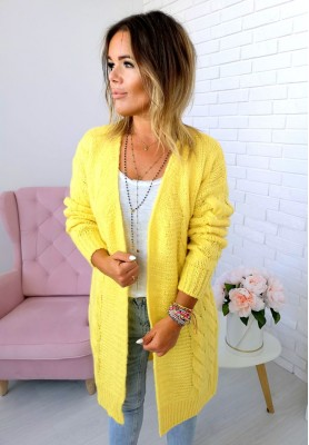 2737 Sweter Kardigan Sarah Yellow