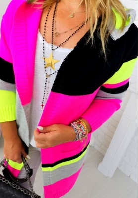 Sweter Kardigan Hello Pink