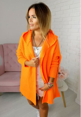 890 Sweter Kardigan Prima Orange