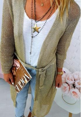 Sweter Kardigan Shine Gold