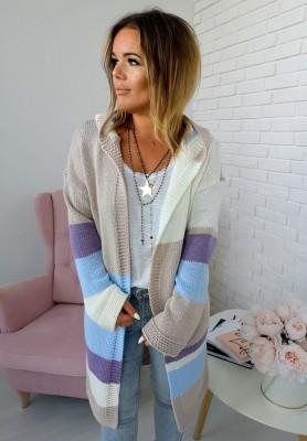 Sweter Kardigan Perlage Blue