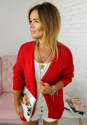Sweter Kardigan Bonita Czerwony