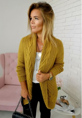 Sweter Kardigan Ring Honey
