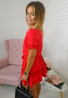 Sukienka Valencia Czerwona