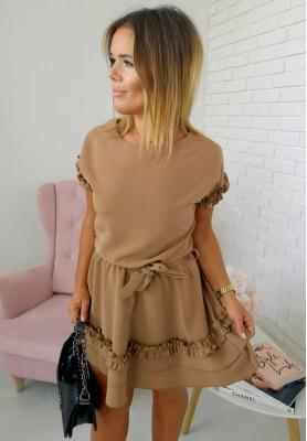 Sukienka Valencia Camel