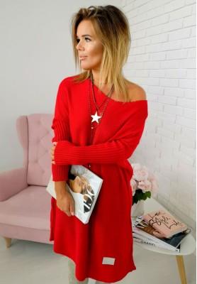 Sweter California Czerwony
