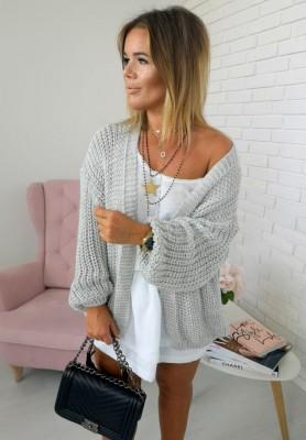 Sweter Kardigan Delice Szary