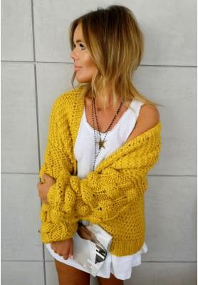 Sweter Kardigan Bonnie Musztarda