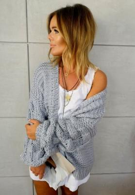 Sweter Kardigan Bonnie Szary