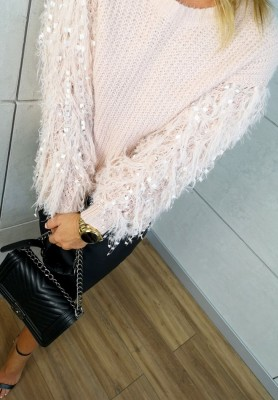 072 Sweter Stacy Puder