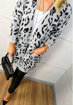 138 Sweter Kardigan Pantera Grey