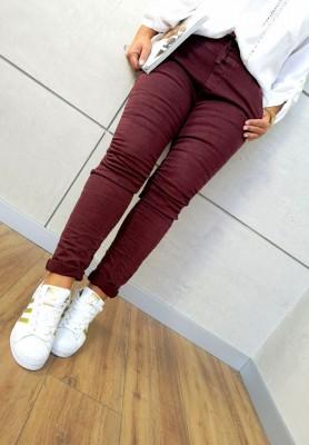 8139 Spodnie Baggy Bordo