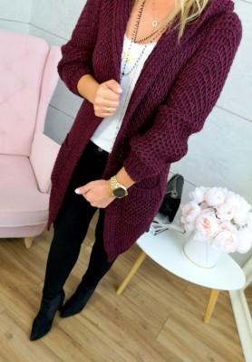 Sweter Kardigan Florence Marsala
