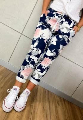 Spodnie Dresowe Flowers Navy