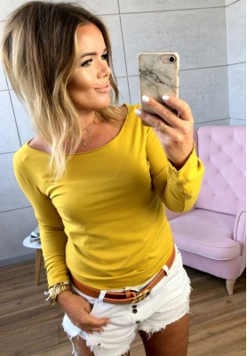 Bluzka Calla Musztarda