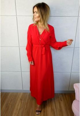 Sukienka Maxi Silk Czerwona