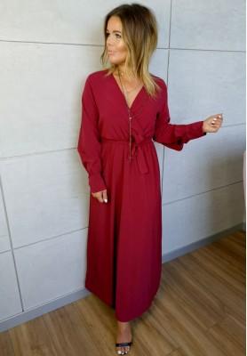 Sukienka Maxi Silk Bordo