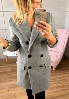 Płaszcz Double Szary