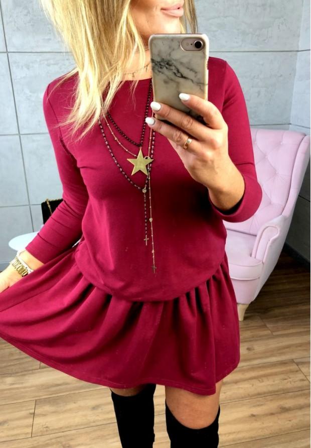 Sukienka Emi Marsala