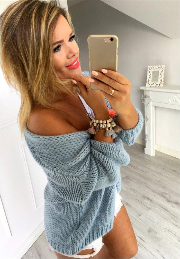Kardigan Sweter Bonita Blue