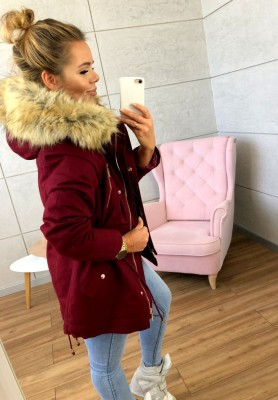 18265 Kurtka Parka Ice Bordo