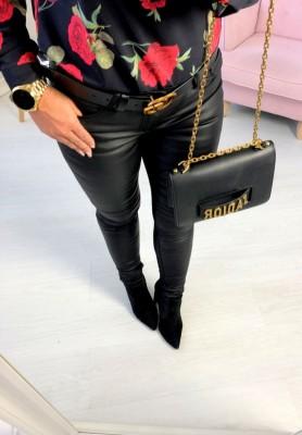 Spodnie Woskowane Black Crop
