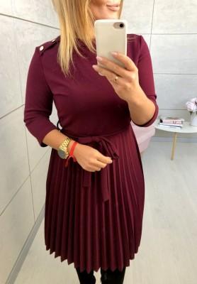 Sukienka Button Marsala