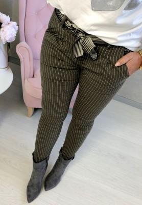 Spodnie Paski Qushe Fango