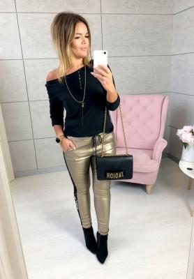 Spodnie Woskowane Glam Gold