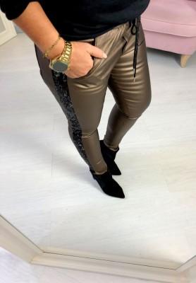 Spodnie Woskowane Glam Chocolate