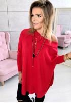 19 Sweter Aida Czerwony