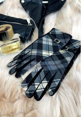 Rękawiczki Kratka Greta Szare