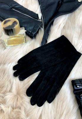 Rękawiczki Zamsz Czarne