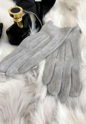 Rękawiczki Zamsz Szare