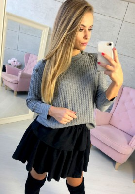 5900 Sweter Clara Szary