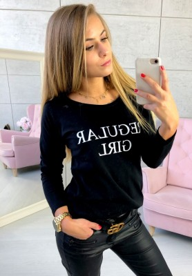 Bluzka Regular Girl Czarna
