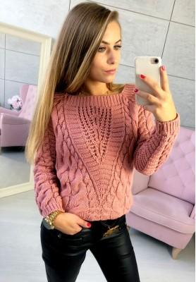 Sweter Livi Brudny Róż