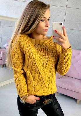 Sweter Livi Musztarda