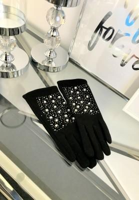 Rękawiczki Pearls Black