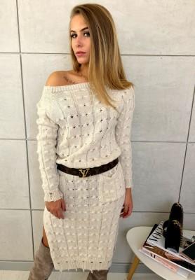 Sukienka Sweter Inez Beż