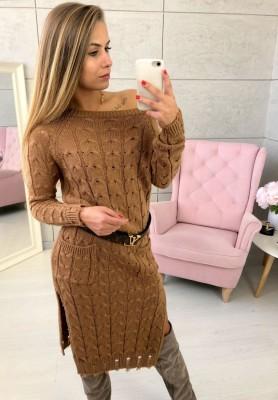 Sukienka Sweter Inez Camel