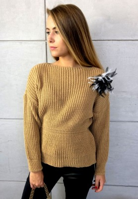 Sweter Intensive Camel