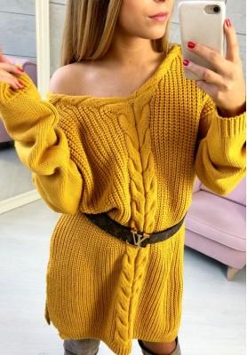 Sukienka Sweter Legendary Musztarda