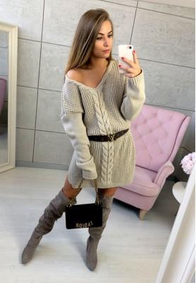 Sukienka Sweter Legendary Mokka