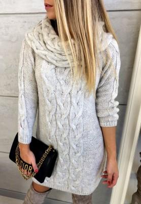 Sukienka Sweter Rain Beż