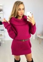 Sukienka Sweter Santiago Fuksja