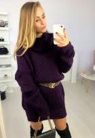 Sukienka Sweter Santiago Fiolet