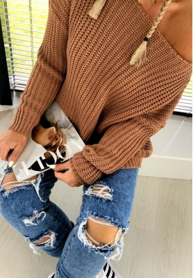 Sweter Cherry Camel