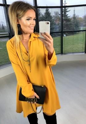 Sukienka Koszula Verona Musztarda